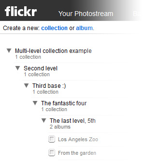 Multi-level Flickr Collections