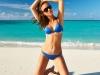 Woman in blue bikini