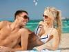 Happy couple in sunglasses