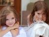 Little girls at a wedding