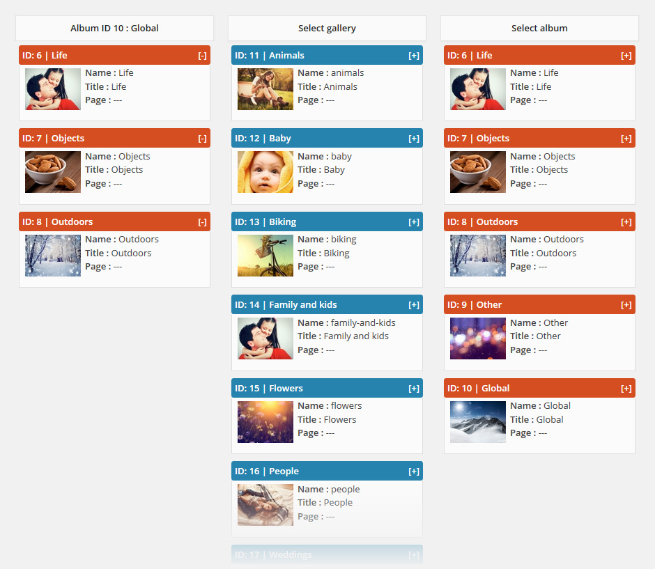Manage NextGEN albums